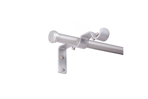 """Kenney Kenney® 5/8"""" Diameter Double Rod Conversion Kit, 42-120"""", Nickel, Silver, large"""