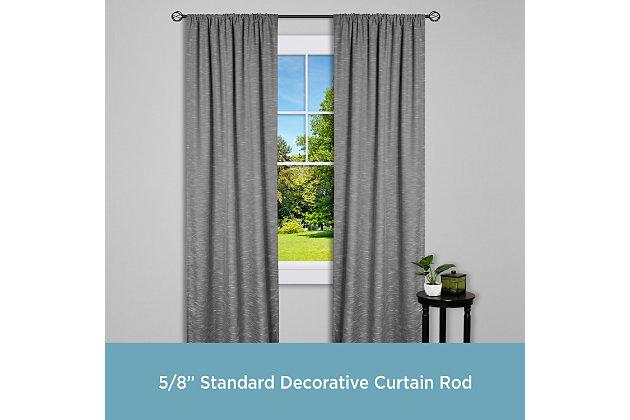"Kenney Kenney® Cage 5/8"" Standard Decorative Window Curtain Rod, 28-48"", Black, , large"