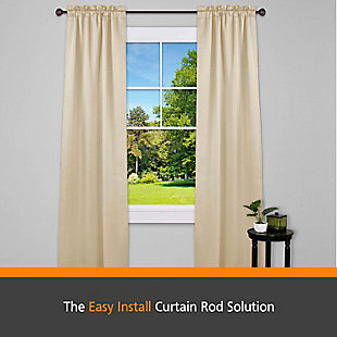 "Kenney Kenney® Fast Fit™ Carey 5/8"" Easy Install Decorative Window Curtain Rod, 36-66"", Oil Rubbed Bronze, Bronze, rollover"