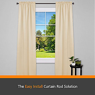 "Kenney Kenney® Fast Fit™ Mission 5/8"" Easy Install Decorative Window Curtain Rod, 36-66"", Oil Rubbed Bronze, Bronze, rollover"