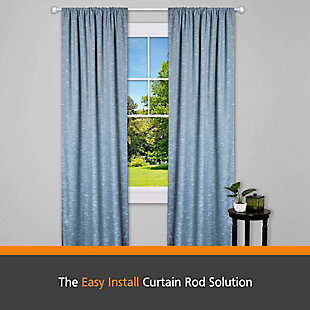 "Kenney Kenney® Fast Fit™ Dryden 5/8"" Easy Install Decorative Window Curtain Rod, 36-66"", Satin Nickel, Silver, rollover"