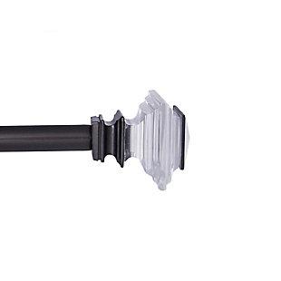 "Kenney Kenney® Faith 3/4"" Standard Decorative Window Curtain Rod, 36-66"", Gunmetal, Black, large"