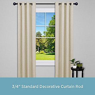 """Kenney Kenney® Bryce 3/4"""" Standard Decorative Window Curtain Rod, 36-66"""", Bronze, Bronze, rollover"""