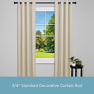 "Kenney Kenney® Nile 3/4"" Standard Decorative Window Curtain Rod, 36-66"", Bronze, , large"