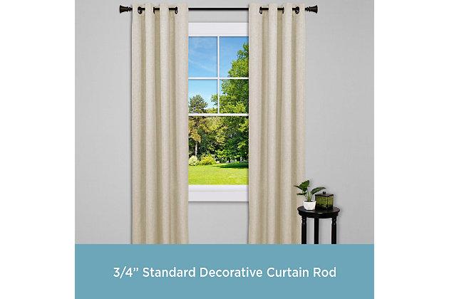 "Kenney Kenney® Nile 3/4"" Standard Decorative Window Curtain Rod, 36-66"", Bronze, Bronze, large"