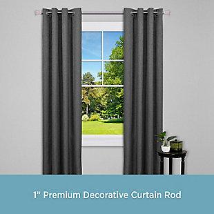 """Kenney Kenney® Mona 1"""" Premium Decorative Window Curtain Rod,36-66"""", Bronze, Bronze, rollover"""