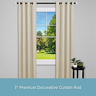 """Kenney Kenney® Mashapee 1"""" Premium Decorative Window Curtain Rod,36-66"""", Bronze, Bronze, rollover"""