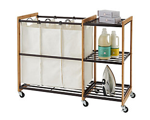 TRINITY 3-Bag Laundry Station with Wheels, , large