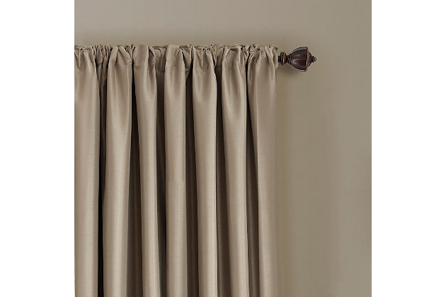 """Home Accents All Seasons Blackout Window Curtain Panel, Taupe, 52"""" x 95"""", Taupe, large"""