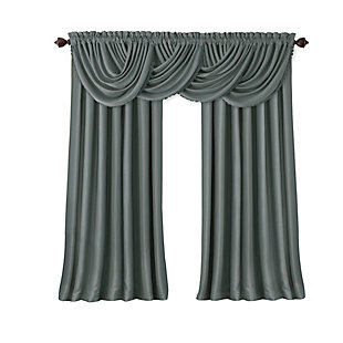 "Home Accents All Seasons Blackout Window Curtain Panel, Dusty Blue, 52"" x 84"", Dusty Blue, rollover"