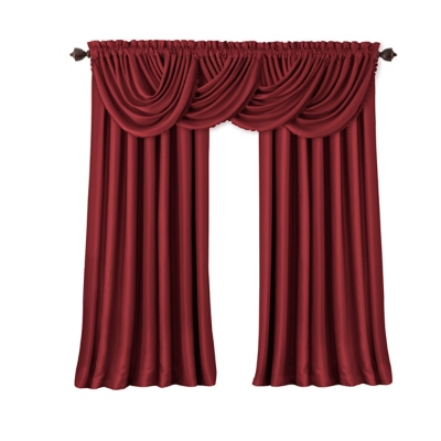 """Home Accents All Seasons Blackout Window Curtain Panel, Rouge, 52"""" x 108"""", Rouge, large"""