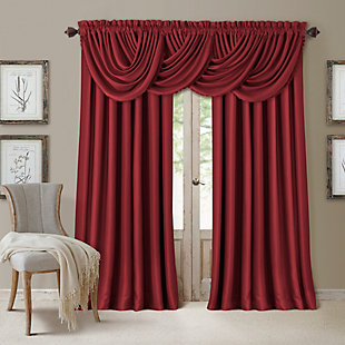 "Home Accents All Seasons Blackout Window Curtain Panel, Rouge, 52"" x 108"", Rouge, large"