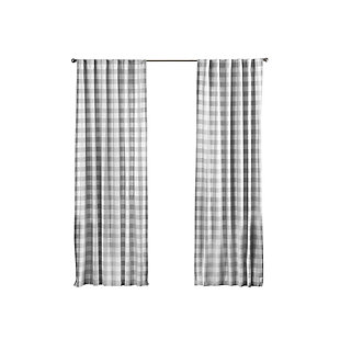 "Home Accents Farmhouse Living Buffalo Check Window Curtain Panel, Gray, 52"" x 84"", Gray, rollover"