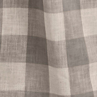 """Home Accents Grainger Buffalo Check Blackout Window Curtain Panel, Gray, 52"""" x 84"""", Gray, large"""