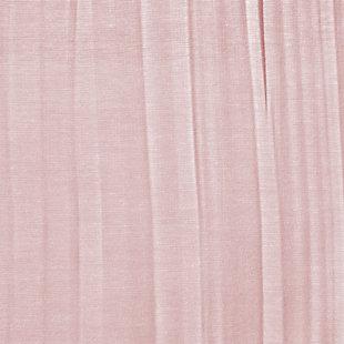 "Home Accents Jolie Semi-Sheer Tie Top Window Curtain Panel, Blush, 52"" x 108"", Blush, large"