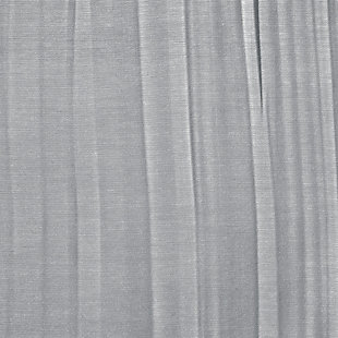 "Home Accents Jolie Semi-Sheer Tie Top Window Curtain Panel, Soft Blue, 52"" x 84"", Soft Blue, large"