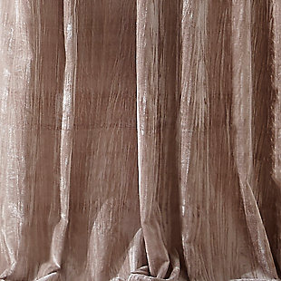 "Home Accents Korena Tie-Top Crushed Velvet Window Curtain Panel, Taupe, 52"" x 95"", Taupe, large"