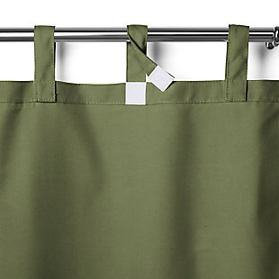 "Home Accents Matine Solid Tab Top Indoor/Outdoor Window Curtain, Green, 52"" x 108"", Green, large"