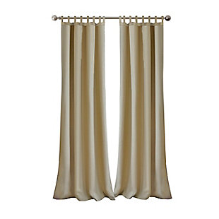 "Home Accents Matine Solid Tab Top Indoor/Outdoor Window Curtain, Taupe, 52"" x 84"", Taupe, rollover"