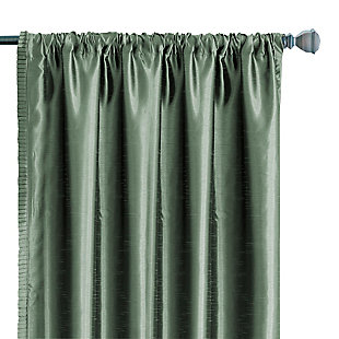 "Home Accents Versailles Faux Silk Room Darkening Window Curtain Panel, Thyme, 52"" x 84"", Thyme, large"