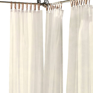 "Home Accents Darien Indoor/Outdoor Sheer Tab Top Window Curtain, Ivory, 52"" x 84"", Ivory, rollover"