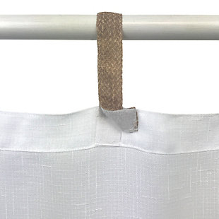 """Home Accents Darien Indoor/Outdoor Sheer Tab Top Window Curtain, White, 52"""" x 108"""", White, large"""