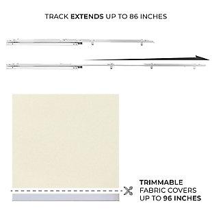 "Chicology Quad Rail Sliding Panels, Brunch Cream, Up to 86"" X 96"", Brunch Cream, large"