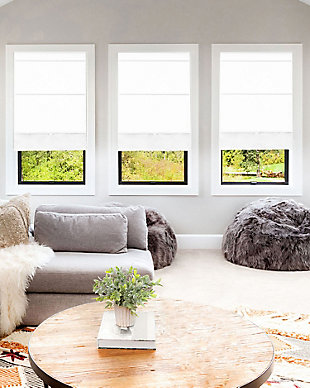 "Chicology Cordless Magnetic Roman Shade, Runway White, 36"" X 64"", Runway White, rollover"