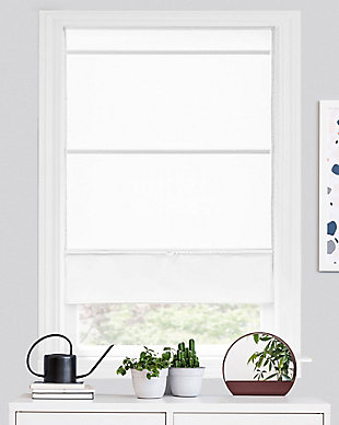 "Chicology Cordless Magnetic Roman Shade, Runway White, 36"" X 64"", Runway White, large"