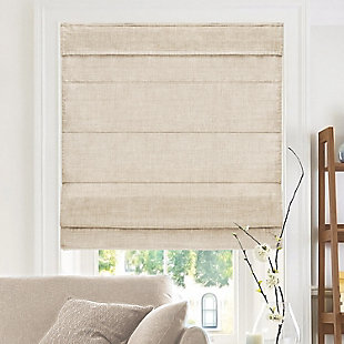 "Chicology Cordless Roman Shades, Belgian Flax, 36"" X 64"", Belgian Flax, large"