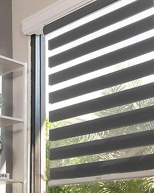 """Chicology Cordless Zebra Roller Shade, Basic Slate, 36"""" X 72"""", Basic Slate, large"""