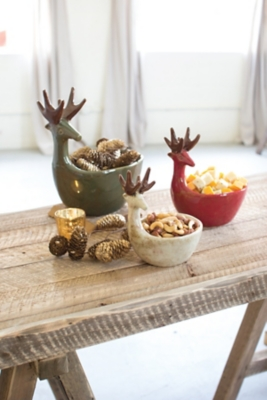 Accents Deer Bowl Home