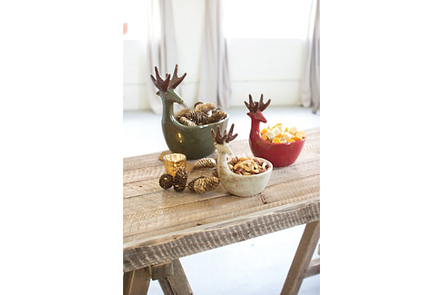 Home Accents Deer Bowl (Set of 3), , large