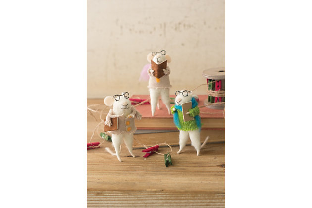 Home Accents Carroling Mouse (Set of 3)