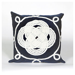 Home Accents Indoor-Outdoor Pillow, Blue, rollover