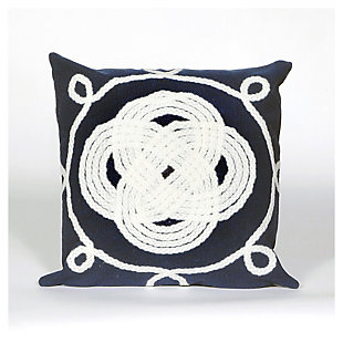 Home Accents Indoor-Outdoor Pillow, Blue, large