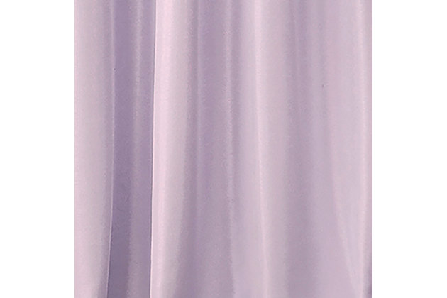 """Home accents Adaline Nursery and Kids Blackout Window Curtain Panel, Lavender, 52"""" x 63"""", Lavender, large"""