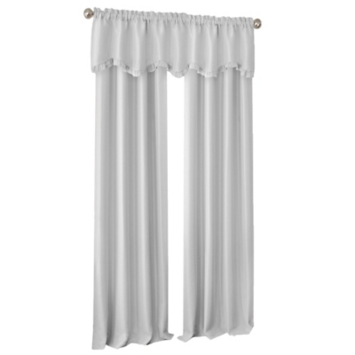 """Home accents Adaline Nursery and Kids Blackout Window Curtain Panel, Pearl Gray, 52"""" x 63"""", Pearl Gray, large"""