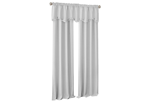 "Home accents Adaline Nursery and Kids Blackout Window Curtain Panel, Pearl Gray, 52"" x 63"", Pearl Gray, large"