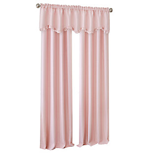 """Home accents Adaline Nursery and Kids Blackout Window Curtain Panel, Soft Pink, 52"""" x 84"""", Soft Pink, large"""