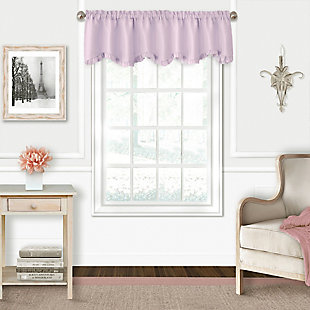 """Home accents Adaline Nursery and Kids Ruffled Window Valance, Lavender, 52"""" x 15"""", Lavender, large"""