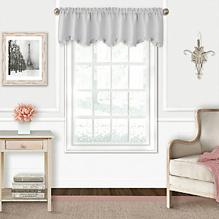 "Home accents Adaline Nursery and Kids Ruffled Window Valance, Pearl Gray, 52"" x 15"", Pearl Gray, large"