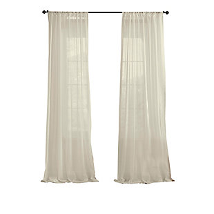 "Home accents Asher Cotton Voile Sheer Window Curtain Panel, Ivory, 52"" x 84"", Ivory, rollover"