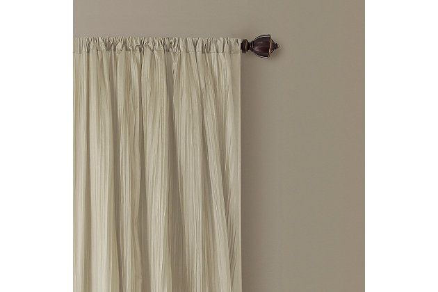 """Home accents Athena Faux Silk Window Curtain and Scarf Set, Ivory, 52"""" x 84"""", Ivory, large"""