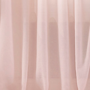 """Home accents Bella Tab-Top Ruffle Sheer Window Curtain Panel, Pale Pink, 52"""" x 84"""", Pale Pink, large"""
