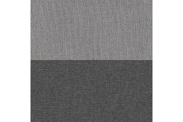 "Home accents Braiden Color Block Blackout Window Curtain Panel, Gray, 52"" x 95"", Gray, large"