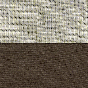 """Home accents Braiden Color Block Blackout Window Curtain Panel, Chocolate, 52"""" x 84"""", Chocolate, large"""