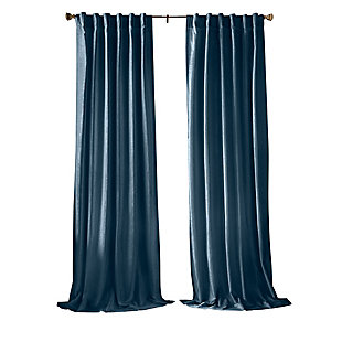 "Home accents Carnaby Distressed Velvet Window Curtain Panel, Denim, 50"" x 84"", Denim, rollover"