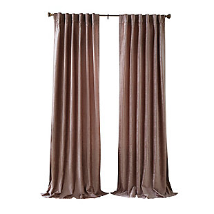 "Home accents Carnaby Distressed Velvet Window Curtain Panel, Taupe, 50"" x 84"", Taupe, large"