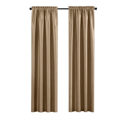 """Home accents Colette Faux Silk Blackout Window Curtain Panel, Gold, 52"""" x 108"""", Gold, large"""